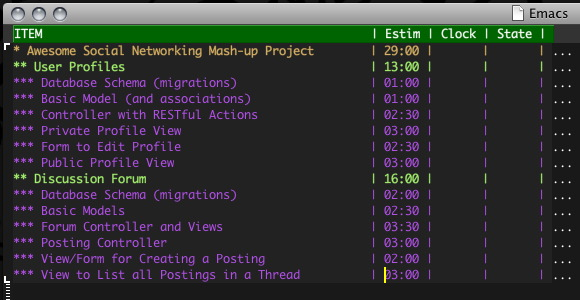 Clock table details in org mode emacs stack exchange for Emacs org table delete column